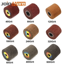 1Pc Non woven Wire Drawing Polishing Wheel Nylon Sour Pad Abrasive Flap Brush 120x100mm 40/60/80/120/180/240/320/400/600 Grit