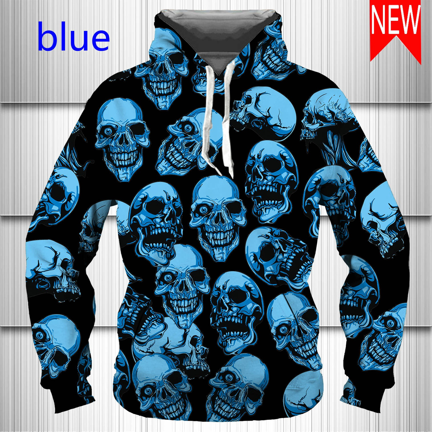 Newest Fashion Men/Women 3D Hoodies Printed Gothic Skull Hoody Funny Personality Hip Hop Pullover Sweatshirts
