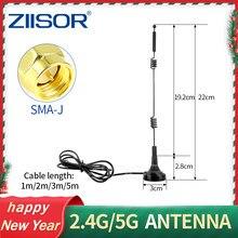 Antena sem fio do sinal da montagem magnética do extensor da escala da antena wlan 5x do impulsionador do sinal de 2.4g 5g 5.8g wifi com base magnética sma