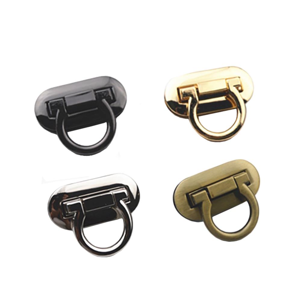 New Metal Clasp Turn Lock Twist Lock For DIY Handbag Craft Bag Purse Hardware Case Clasp Flip Lock  Making Supplies