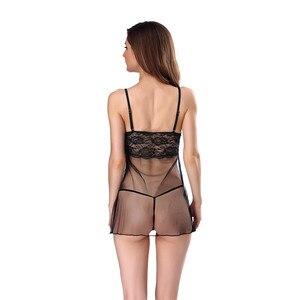 Image 2 - Bielizna Erotyczna ฤดูร้อนชุดชั้นในเซ็กซี่ชุด PLUS ขนาดชุดชั้นในเร้าอารมณ์ Babydoll ชุดนอนสำหรับสตรี Sex Nightdress