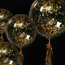 5 stücke 12/18/20/24/36 zoll Transparent Bobo Blase Ballon 10g Konfetti Klar helium Ballon Valentinstag Geburtstag Party Geschenke