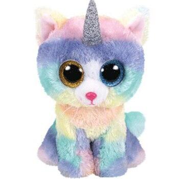 Ty gato perro búho mono Peluche de unicornio juguete de peluche y animales de peluche 15cm