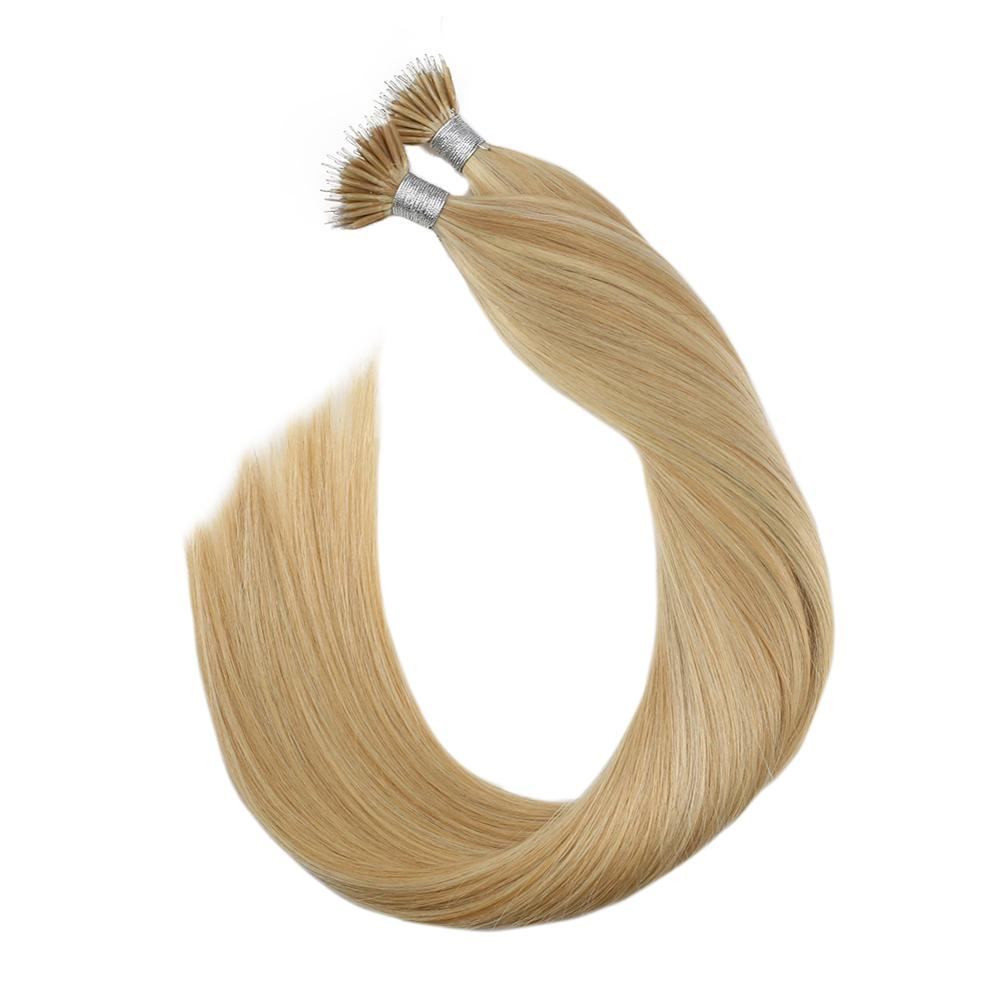 Ugeat Nano Ring Human Hair Piano Color P16/22 Machine Remy Hair Silky Straight Nano Tip Real Hair Extension