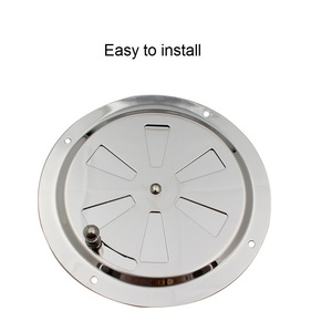 Image 2 - Stainless Steel 316 Marine Round Blower Louver Vent Cover Side Knob Opening 5 inch Air Louver Vent Boat Yacht Accessories