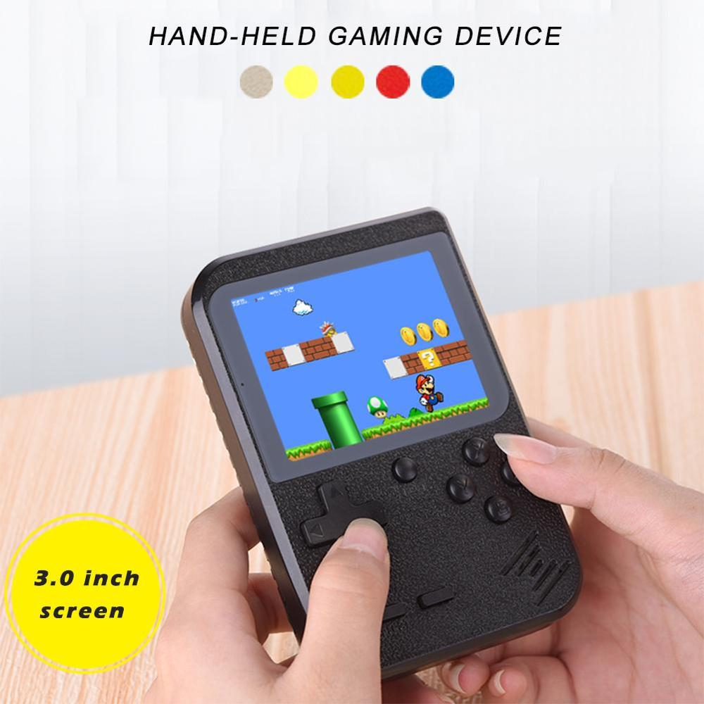 3 In 800Mah Handheld Retro Game Console Built-in 400 Games Player Console Game Tetris 8 Bit Mini Pocket Player For Kids Adults