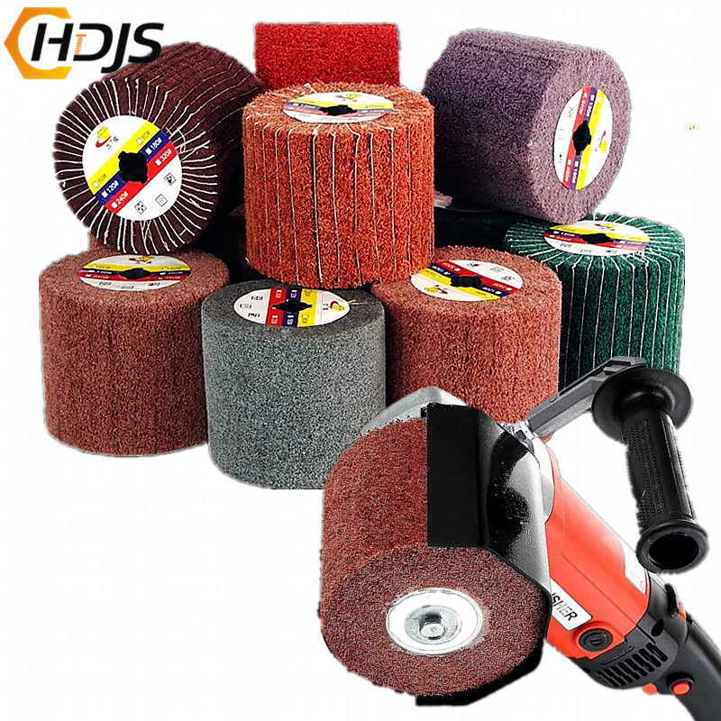 3M Stainless Steel Polishing Machine Polishing Wheel Nylon Drawing Round Portable Electric Metal Burr Abrasive Grinding Wheel