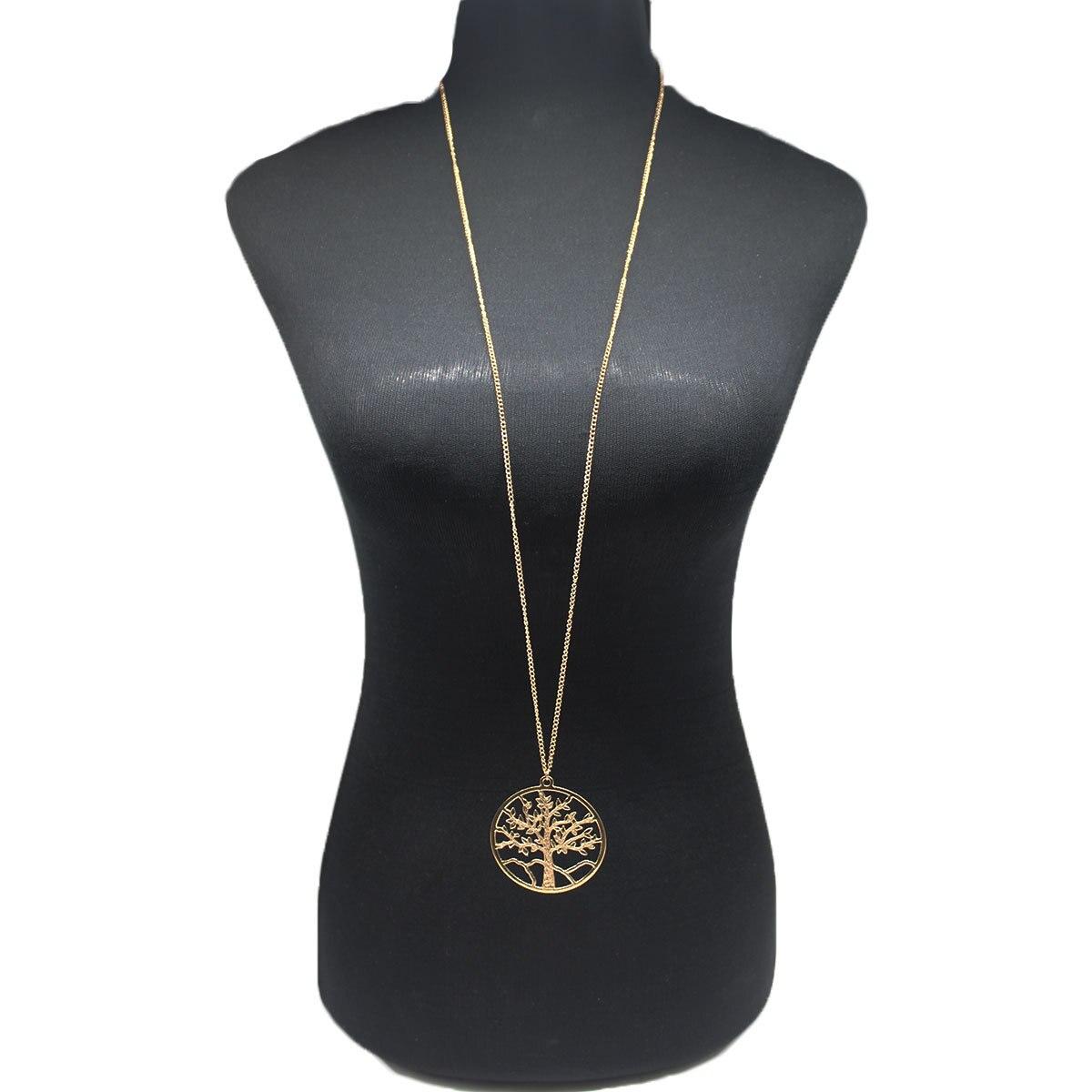 Женское длинное ожерелье с подвесками на цепочке, простое круглое ожерелье золотого и серебряного цвета с цепочкой для свитера