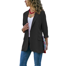 2019 Casual Women Slim Suit Blazer Jacket Coat Red Black Lon