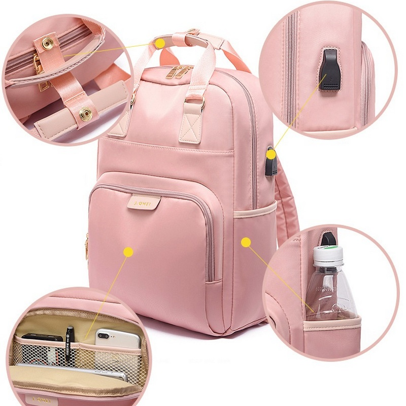 13 14 15.6 Inch Waterproof Laptop Backpack Female Fashion Girl 2019 USB Anti Theft Back Pack Women Bagpack Large Multifunctional