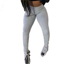 Женские повседневные брюки уличная одежда однотонные с высокой
