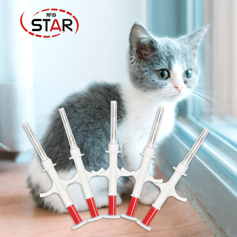 30pcs Universal Pet Dog Animal RFID Microchip Syringe Injector 2.12*12mm FDX-B ISO 11784/11785 Cat MicrochipTag For Dogs Cats