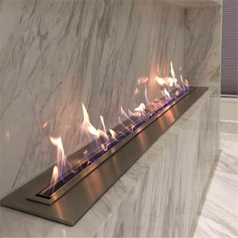 72 Inch Remote Control Intelligent Electric Bio Ethanol Fireplace Chimney Design
