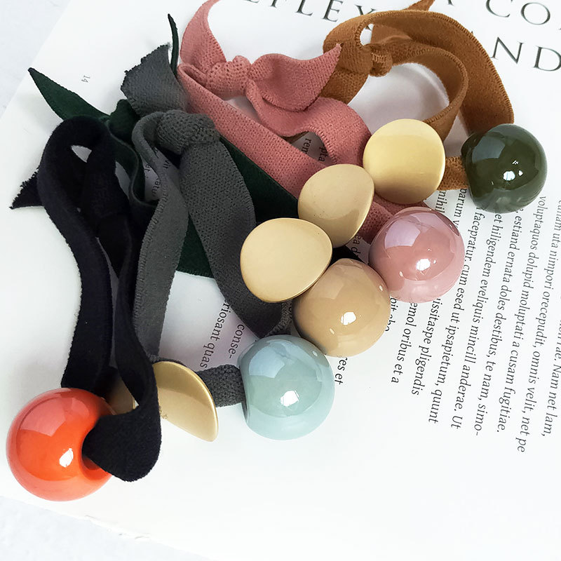 For Haar Accessoires Korean Style Autumn And Winter New Head Rope Versatile Beads Hair Accessories Asian Piece Rubber Band Ring