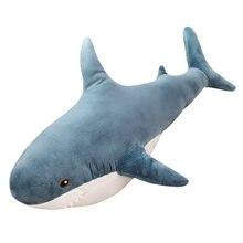 Гигантская имитация акулы мягкие плюшевые игрушки подушки для