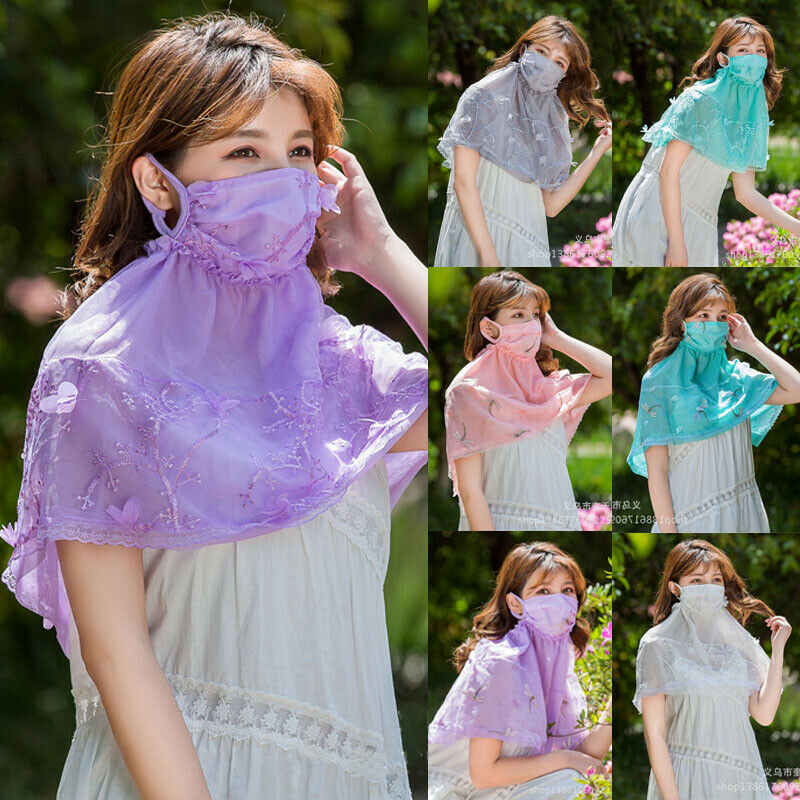 Summer Sunscreen Mouth Mask Breathable Women Neck Protection Face Mask Anti-dust Mouth-muffle Mask