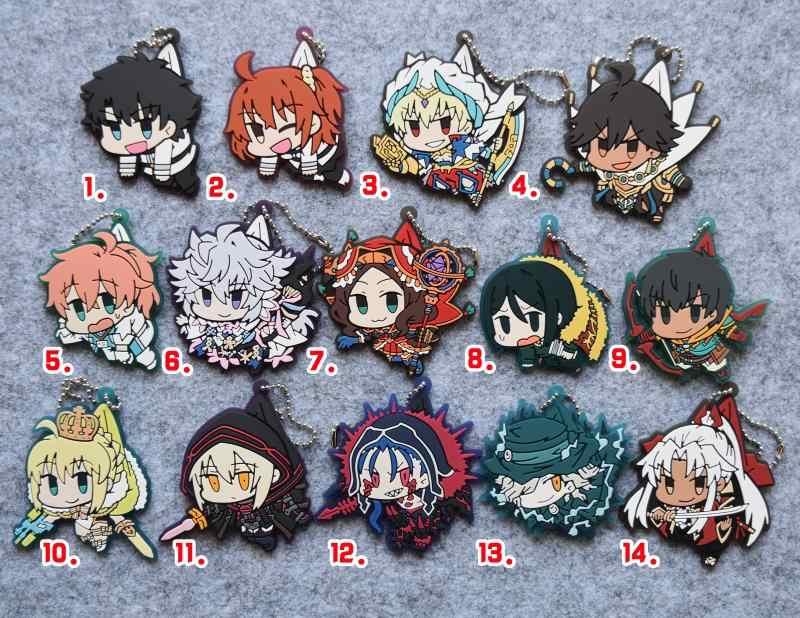 Los/wielki zamówienie Anime Shiro Amakusa Gankutsuo Romani gilgamesz tajemniczy bohaterka X Cu Chulainn gumowy pasek brelok