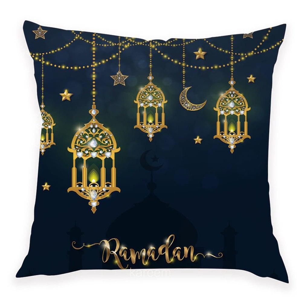 Image 3 - 45x45cm Happy Eid Mubarak Pillowcase Ramadan Decor Islamic    Muslim Moon Party Decor Islam Supplies Ramadan Kareem Eid Al AdhaParty  DIY Decorations