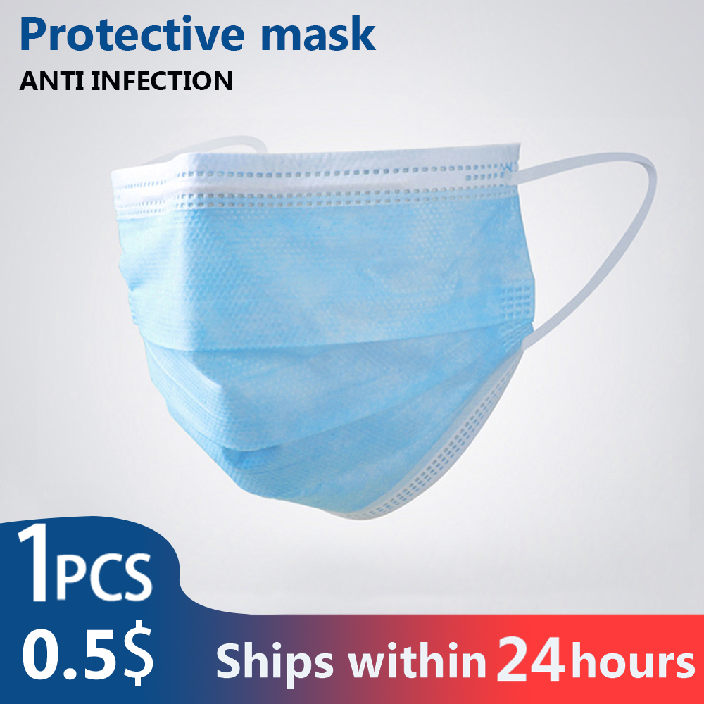 1/10/30/50/100PCS PCS 3 Layer Non-woven Dust  Mask N95 Thickened Disposable Mouth Mask Same As KF94 FFP2