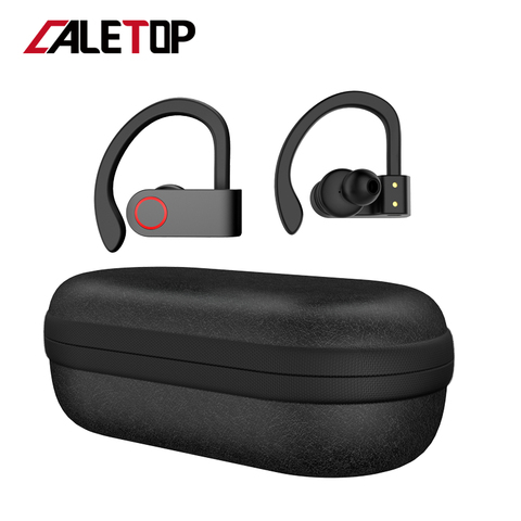 Wireless Sports Headphones TWS Bluetooth 5.0 Earphones Ear Hook Running Noise Cancelling Stereo Earbuds With MIC IPX4 Waterproof Pakistan