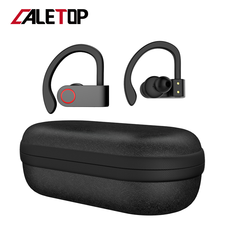 Wireless Sports Headphones TWS Bluetooth 5.0 Earphones Ear Hook Running Noise Cancelling Stereo Earbuds With MIC IPX4 Waterproof image