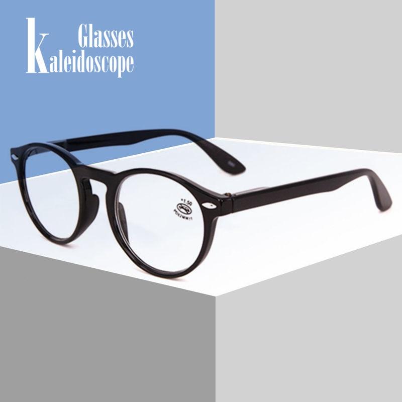 Men Women Reading Glasses Fashion Round Glasses Retro Red Blue Black Men Vintage Ultralight Hyperopia Eyeglasses With Diopter