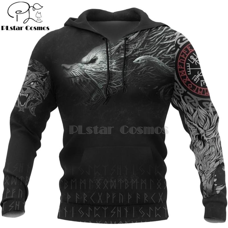 PLstar Cosmos Viking Warrior Tattoo New Fashion Tracksuit casual 3D Print Zipper/Hoodie/Sweatshirt/Jacket/Men's Women style-49