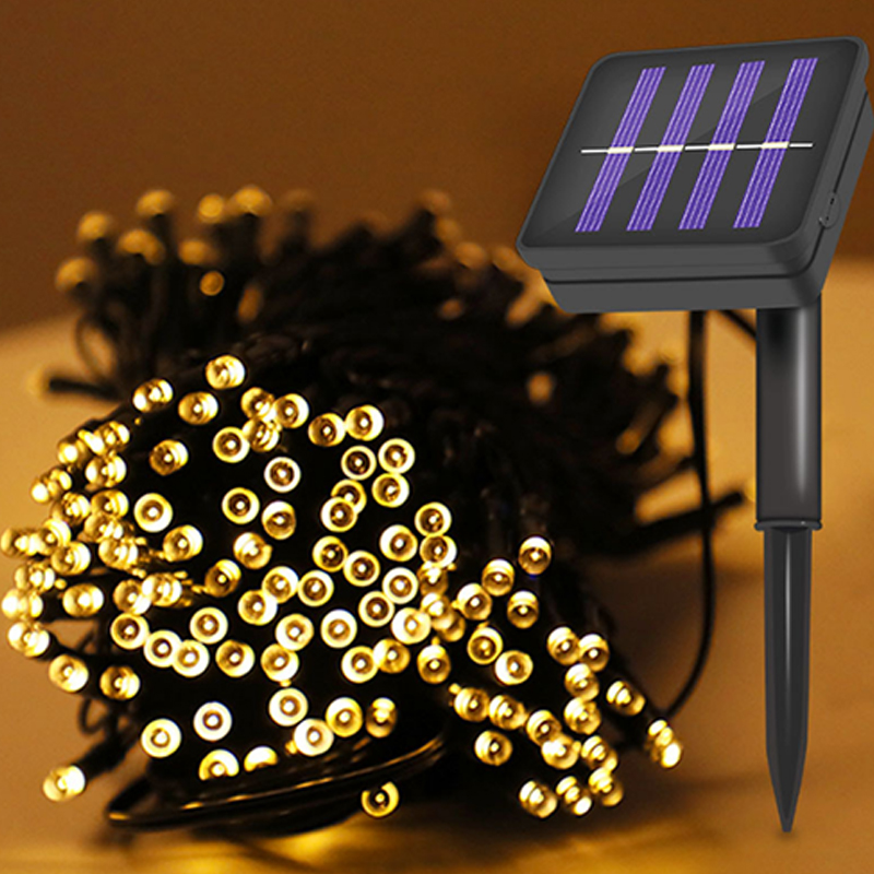 22 m200led luz solar string strip luz 02