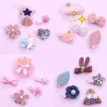 5Pcs/set Sequin Star Hair Clips For Girls Peral Flower Pins Kids Lace Rabbit Ear Baby Hairpin BB Barrettes Accessories