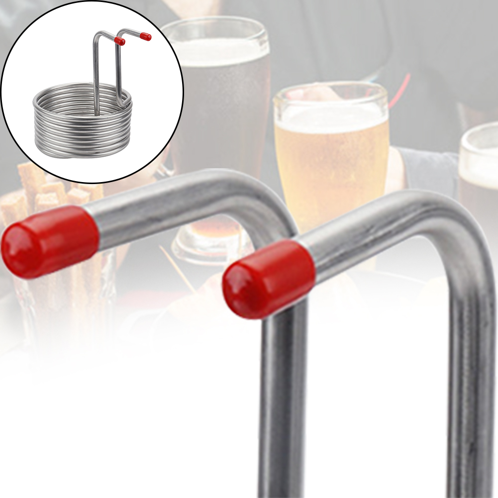 Hotel Tool Wort Chiller Pipe Bar Beer Cooling Coil Wine Making Machine Immersion Home Brewing Restaurant Stainless Steel Spiral