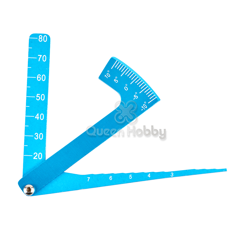 Aluminum 3 In 1 Height Gauge Ruler Camber Chassis Ruler Set Up Tool Adjustable for 1/8 & 1/10 <font><b>Wheel</b></font> RC Road Car Suspension Part image