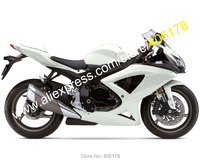 All white For 08 10 GSXR 600 GSXR 750 2008 2009 2010 K8 GSX R600 750 customize fairings kit (Injection molding)