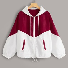 Sport Jacket Blouse Women Long Sleeve Patchwork Pocket Sweatshirt Zip Up Drawstring Hooded Jacket Running Coat Autumn Female camo multi pocket patches design drawstring hooded jacket