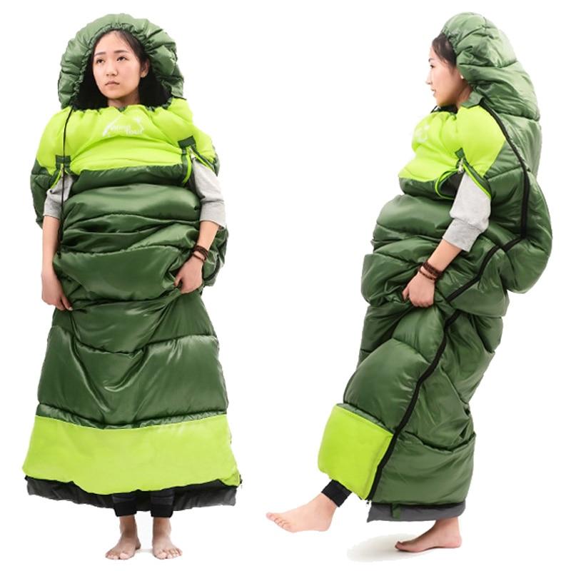 Summer Outdoor Travel Thick Warmth Camping Sleeping Bag Indoor Lazy Sleeping Bag Hiking Waterproof