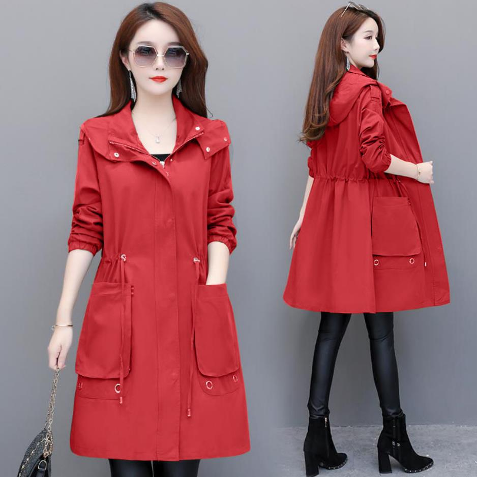 2020 Autumn New Women's Casual trench coat oversize Double Breasted Vintage Washed Outwear Loose Clothing