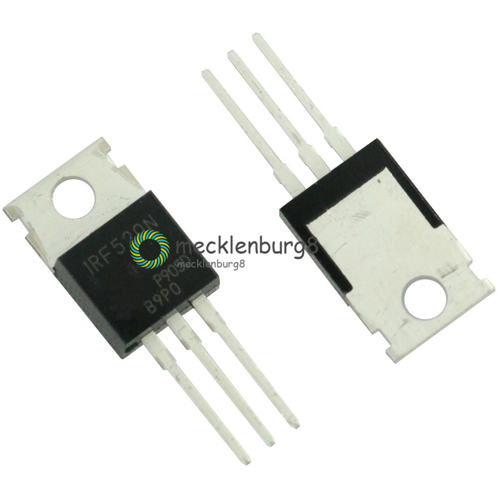 100pcs IRF520 IRF520N N-Channel HEXFET Power MOSFET New Good Quality