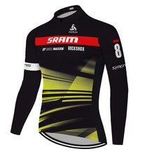 2020 primavera outono nenhum velo scottes equipe camisa de ciclismo maillot largo ciclismo ropa ciclismo dos homens manga longa estrada bicicleta jérsei