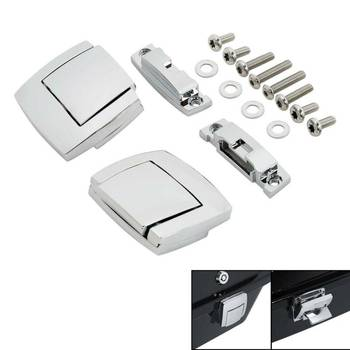 Motorcycle Pack Trunk Lock Latches For Harley Tour Pak Touring CVO Road King Electra Street Glide Ultra FLHX FLTR FLHT 1980-2013 motorcycle painted chopped tour pak pack trunk fit for harley touring road king electra glide flht fltr 1997 2013