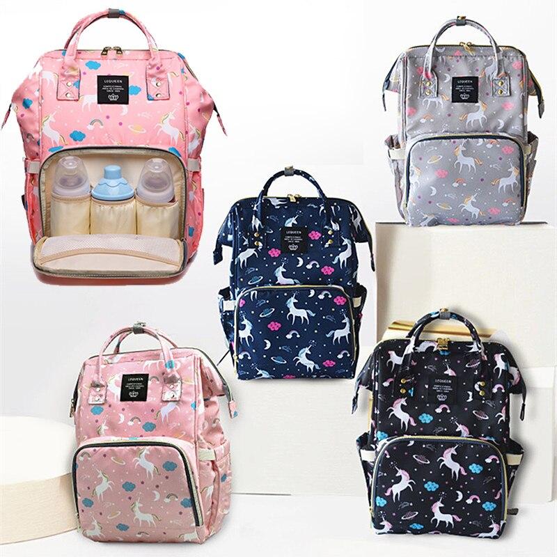 Diaper Bag Backpack Zipper Unicorn Large Capacity Travel Mummy Maternity Nappy Bag Designer Multifunctiona Nursing Bag Baby Care