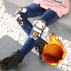Image 1 - Ropa de invierno para niños y niñas, a la moda mallas finas, leggings gruesos de lana, pantalones largos, 2020