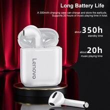Lenovo – écouteurs sans fil LP2 TWS Bluetooth 5.0, double stéréo, basse, 350MAH, musique HiFi, avec micro, casque de Sport, résistant à la sueur