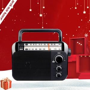 Image 1 - Retekess TR604 FM/AM 2 להקת נייד רדיו AC מופעל נטענת מקלט עם 3.5mm אוזניות שקע קשישים