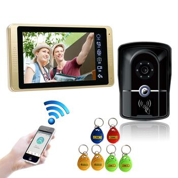 SYSD 7 inch Wireless/Wired Wifi Video Door Phone Doorbell Intercom Entry System Support Remote unlocking,Recording,Snapshot tmezon 7 inch tft wired video intercom system with 1x 1200tvl waterproof door phone camera support recording snapshot doorbell