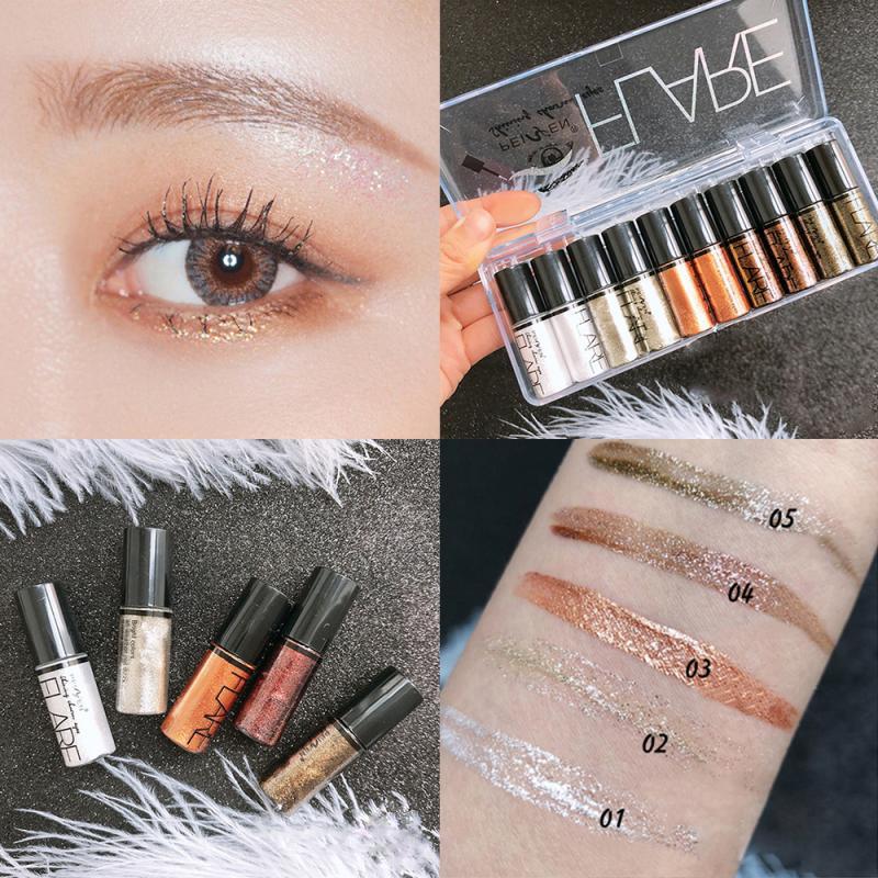 New Liquid Glitter Eyeshadow Shimmer Eyeshadow Dropshipping Waterproof Long-lasting Shimmer Eyeshadow Eye Makeup Accessorices