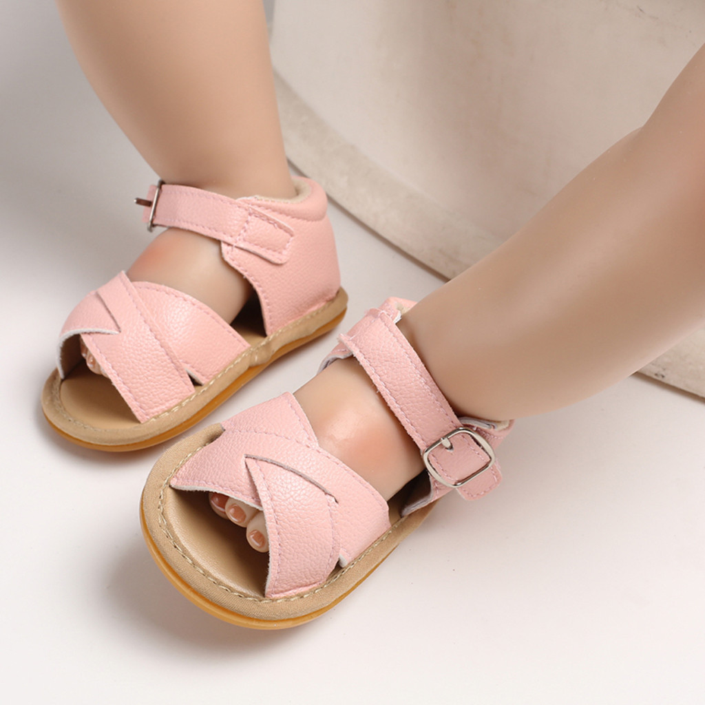 Newborn Toddler Infant Baby Girls Boys Princess  Sandals Prewalker Footwear Girls Sandals Princess Crystal Good For Girls Shoes
