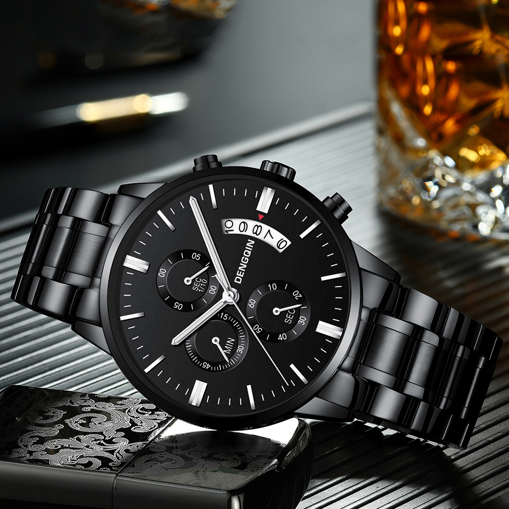 Clearance Sale $ 9.9 Men Watches Men Luxury Brand Chronograph Male Sport Watches Waterproof Stainless Steel Quartz Men Watch
