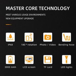Image 2 - WDLUCKY אנדוסקופ מצלמה 4.3 אינץ תעשייתי כף יד borescope 3.9 5.5 MM HD 1080P כפולה עדשת נחש רכב כלי מצלמה