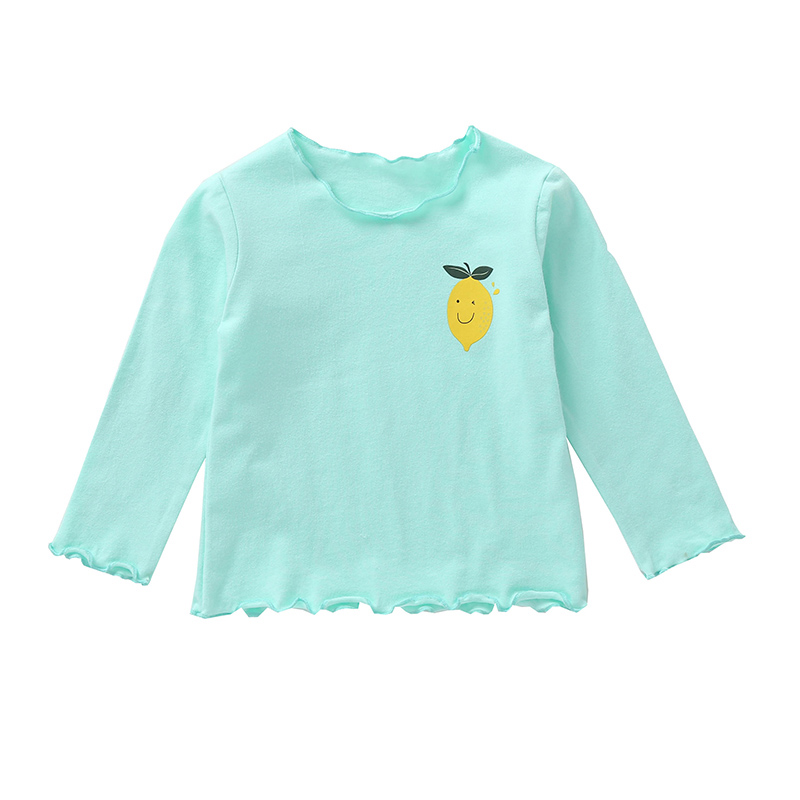 Cartoon T-Shirt Baby-Girls Winter Cotton Long-Sleeved Children New Fruit O-Neck -'s