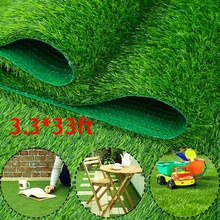 10Mx1M 25mm Hight Outdoor Artificial Lawn Grass Mat Indoor Lawn Turf Synthetic Rugs Mat Garden Landscape Decoration