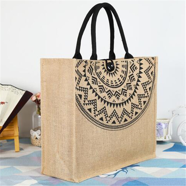 Women Linen Luxury Tote Large Capacity Female Casual Shoulder Bag Lady Daily Handbag Beach bags for women 2019 1